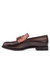 Туфли Santoni MCHG12830 100% кожа Темно-коричневый Италия изображение 2