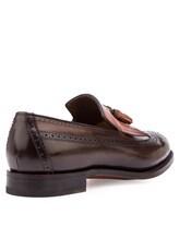 Туфли Santoni MCHG12830 100% кожа Темно-коричневый Италия изображение 3
