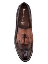 Туфли Santoni MCHG12830 100% кожа Темно-коричневый Италия изображение 4