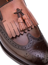 Туфли Santoni MCHG12830 100% кожа Темно-коричневый Италия изображение 5