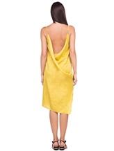 Платье Andrea Ya'aqov 18WSAN43 51% шёлк, 49% хлопок Горчичный Италия изображение 3