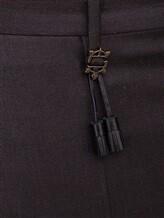 Брюки Incotex 1AT030 100% шерсть Темно-коричневый Румыния изображение 4
