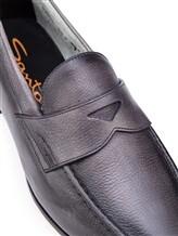 Туфли Santoni MCNC13903 100% кожа Антрацит Италия изображение 5