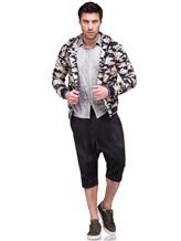 Куртка Herno GI0139U 100%хлопок Бежево-синий Италия изображение 1
