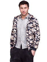 Куртка Herno GI0139U 100%хлопок Бежево-синий Италия изображение 0
