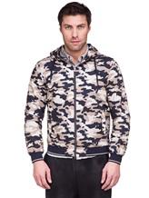 Куртка Herno GI0139U 100%хлопок Бежево-синий Италия изображение 2