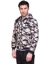 Куртка Herno GI0139U 100%хлопок Бежево-синий Италия изображение 3