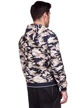 Куртка Herno GI0139U 100%хлопок Бежево-синий Италия изображение 4