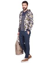 Куртка Herno GI0139U 100%хлопок Серо-зеленый Италия изображение 0