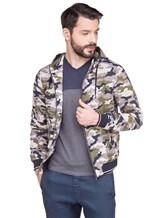 Куртка Herno GI0139U 100%хлопок Серо-зеленый Италия изображение 1