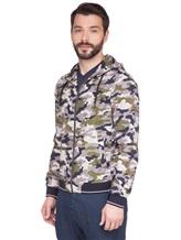 Куртка Herno GI0139U 100%хлопок Серо-зеленый Италия изображение 3