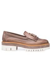 Туфли Santoni WUCC57191 100% кожа Серо-бежевый Италия изображение 1