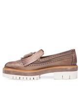 Туфли Santoni WUCC57191 100% кожа Серо-бежевый Италия изображение 2