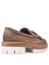 Туфли Santoni WUCC57191 100% кожа Серо-бежевый Италия изображение 3