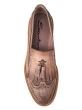 Туфли Santoni WUCC57191 100% кожа Серо-бежевый Италия изображение 4