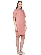 Платье Peserico S02884 96% хлопок 4% эластан Коралловый Италия изображение 3
