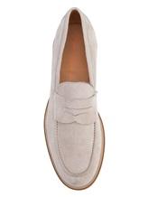 Туфли Santoni MGMG12940 100% кожа Светло-серый Италия изображение 4