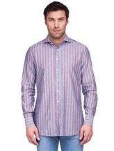 Рубашка Lardini EECIRO 56% хлопок, 44% флекс Голубой Италия изображение 1