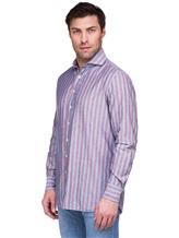 Рубашка Lardini EECIRO 56% хлопок, 44% флекс Голубой Италия изображение 2
