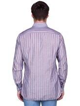 Рубашка Lardini EECIRO 56% хлопок, 44% флекс Голубой Италия изображение 3