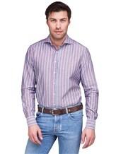 Рубашка Lardini EECIRO 56% хлопок, 44% флекс Голубой Италия изображение 0