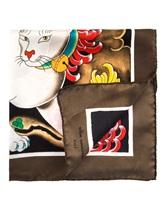 Платок Massimo Alba HANKY1 100% шёлк Коричневый Италия изображение 1