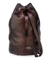 Рюкзак Santoni UIBBA1479 100% кожа Темно-коричневый Италия изображение 2