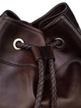 Рюкзак Santoni UIBBA1479 100% кожа Темно-коричневый Италия изображение 3