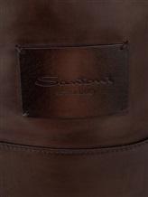 Рюкзак Santoni UIBBA1479 100% кожа Темно-коричневый Италия изображение 4