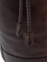 Рюкзак Santoni UIBBA1479 100% кожа Темно-коричневый Италия изображение 5