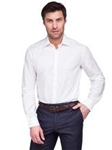 Рубашка XACUS 333ML 100%хлопок Белый Италия изображение 0