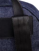 Рюкзак Serapian 6924 95% хлопок, 5% кожа Темно-синий Италия изображение 3
