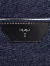 Рюкзак Serapian 6924 95% хлопок, 5% кожа Темно-синий Италия изображение 5