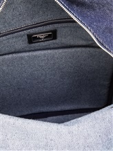 Рюкзак Serapian 6924 95% хлопок, 5% кожа Темно-синий Италия изображение 6