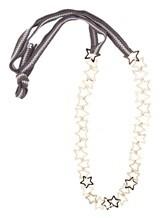 Ожерелье Lorena Antoniazzi LP33101C01 100% хлопок Серо-белый Италия изображение 1