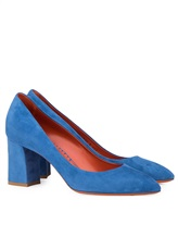 Туфли Santoni WDHZ57183 100% кожа Темно-голубой Италия изображение 0