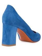 Туфли Santoni WDHZ57183 100% кожа Темно-голубой Италия изображение 3