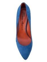Туфли Santoni WDHZ57183 100% кожа Темно-голубой Италия изображение 4