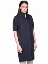 Пальто EREDA 18SEDC0700 100% лён Серо-синий Италия изображение 3