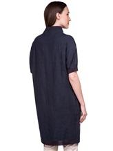 Пальто EREDA 18SEDC0700 100% лён Серо-синий Италия изображение 4