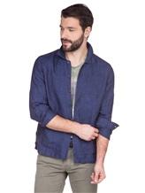Рубашка XACUS 703ML 100% лён Синий Италия изображение 0