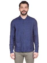 Рубашка XACUS 703ML 100% лён Синий Италия изображение 2