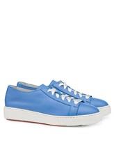 Кеды Santoni WBCE53853 100% кожа Голубой Италия изображение 0