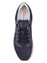 Кроссовки Santoni MBVR20681 100% кожа Темно-синий Италия изображение 4