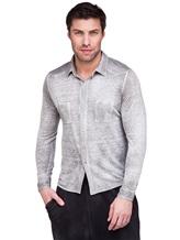 Рубашка AVANT TOI 218U2812 100% лён Светло-серый Италия изображение 0