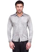 Рубашка AVANT TOI 218U2812 100% лён Светло-серый Италия изображение 1