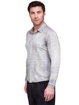 Рубашка AVANT TOI 218U2812 100% лён Светло-серый Италия изображение 2