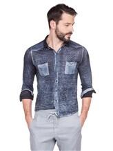 Рубашка AVANT TOI 218U2812 100% лён Темно-синий Италия изображение 0