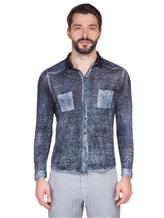 Рубашка AVANT TOI 218U2812 100% лён Темно-синий Италия изображение 1