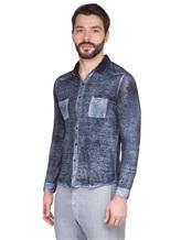Рубашка AVANT TOI 218U2812 100% лён Темно-синий Италия изображение 2
